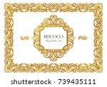 vector set with vintage frames  ...   Shutterstock .eps vector #739435111