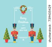 nutcracker toy soldiers... | Shutterstock .eps vector #739435429