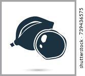 macadamia nut simple icon | Shutterstock .eps vector #739436575