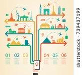 travel infographic.... | Shutterstock .eps vector #739437199