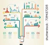travel infographic.... | Shutterstock .eps vector #739437205