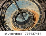 clocks in time | Shutterstock . vector #739437454