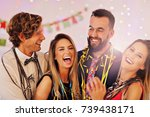 picture showing group of... | Shutterstock . vector #739438171