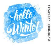 hello winter handwritten... | Shutterstock .eps vector #739439161