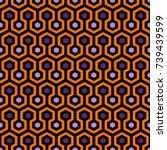 honeycomb abstract background.... | Shutterstock .eps vector #739439599