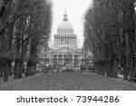 pantheon of paris in the...   Shutterstock . vector #73944286