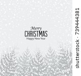 vector illustration of a snowy... | Shutterstock .eps vector #739444381