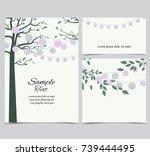 vector illustration of trees...   Shutterstock .eps vector #739444495