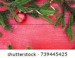 festive background of fragrant... | Shutterstock . vector #739445425