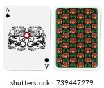 ace of spades face with spades... | Shutterstock .eps vector #739447279