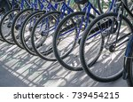 bicycle rent public bicycles ... | Shutterstock . vector #739454215