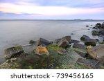 beautiful sunset on the... | Shutterstock . vector #739456165