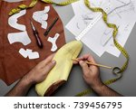 modelling design of a shoes... | Shutterstock . vector #739456795