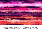 watercolor striped fashion... | Shutterstock .eps vector #739457575