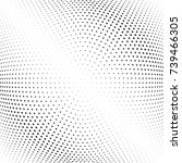 abstract halftone wave dotted...   Shutterstock .eps vector #739466305