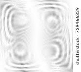 abstract halftone wave dotted...   Shutterstock .eps vector #739466329
