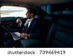 always available. handsome... | Shutterstock . vector #739469419
