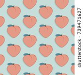 vector tasty fruit pattern with ... | Shutterstock .eps vector #739471627