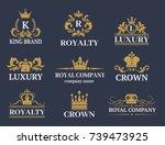 crown king vintage premium...   Shutterstock .eps vector #739473925