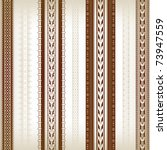 set of seamless borders with... | Shutterstock .eps vector #73947559