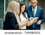 shot of business professionals... | Shutterstock . vector #739480351