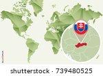 infographic for slovakia ...   Shutterstock .eps vector #739480525