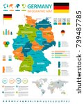 germany infographic map and... | Shutterstock .eps vector #739487785