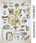 drinks illustration - stock vector