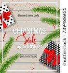 christmas sale poster with gift ...