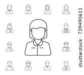 teacher female avatar. set of... | Shutterstock .eps vector #739490611