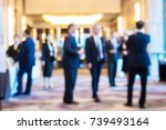 abstract blur group of people... | Shutterstock . vector #739493164
