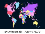 color world map | Shutterstock .eps vector #739497679