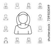 nun avatar icon. et of avatars... | Shutterstock . vector #739503049