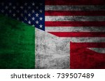 country relations. flags on... | Shutterstock . vector #739507489