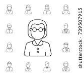 teacher woman avatar. set of... | Shutterstock . vector #739507915