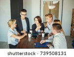 group of business people... | Shutterstock . vector #739508131