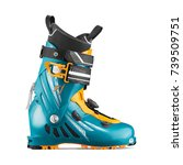 ski boots isolated on white... | Shutterstock . vector #739509751