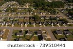 Small photo of Aerial view of a subdivision