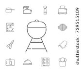 barbecue. set of kitchen icons...