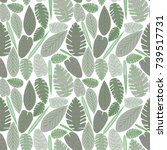 vector seamless pattern... | Shutterstock .eps vector #739517731