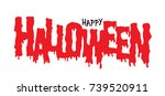 halloween title. eps 10 vector... | Shutterstock .eps vector #739520911