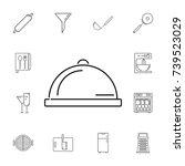 restaurant steel serving tray....   Shutterstock . vector #739523029