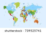 color world map | Shutterstock .eps vector #739525741