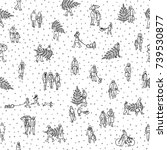 seamless pattern of tiny... | Shutterstock .eps vector #739530877
