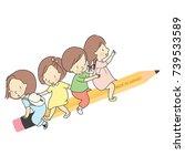 vector illustration of little...   Shutterstock .eps vector #739533589