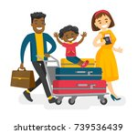 african husband pushing a... | Shutterstock .eps vector #739536439