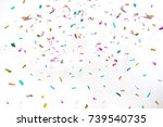 party background colorful... | Shutterstock . vector #739540735