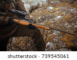 rifle with optical sight | Shutterstock . vector #739545061