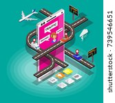 vector isometric mobile with... | Shutterstock .eps vector #739546651