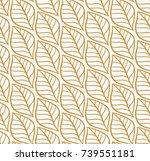 vector illustration of leaves...   Shutterstock .eps vector #739551181